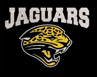 Women's Glitter Bling Jaguars shirt
