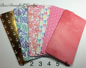 File Folder Colorful Insert for Traveler's Notebook Standard size Midori Accessories etc.