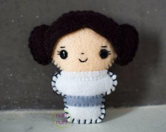 Felt Princess Leia - Pocket Plush toy