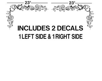 "23"" Floral Corner Ornaments Wall Decals car decal sticker window art room decor graphics  GA17.23.2"