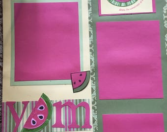 Yum - 12 x 12 Premade Scrapbook Pages