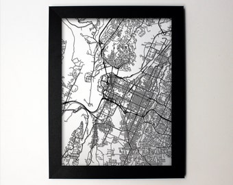 Chattanooga Map / Laser Cut Map / Chattanooga TN / Chattanooga Art / Chattanooga Tennessee / Framed Map / Wedding Gift / Anniversary Gift