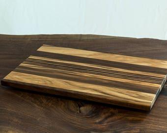 Striped Long Grain Cutting Board