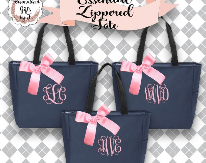 9 bridesmaid tote bags , bridesmaid gifts , tote bag , beach bag , bachelorette party gift ,wedding bag , maid of honor