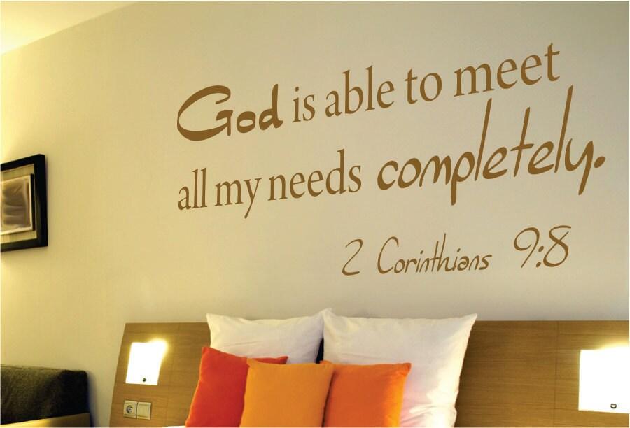 2 Corinthians 9:8 Wall Decal Bible Verse Wall Decal