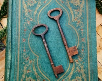 2 Hand Forged Antique Skeleton Keys