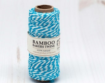 Bamboo Bakers Twine,  Party Twine,  Bakery Twine,  Blue and White -T62