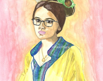 Laney Boggs - She's All That - Watercolor Painting Print