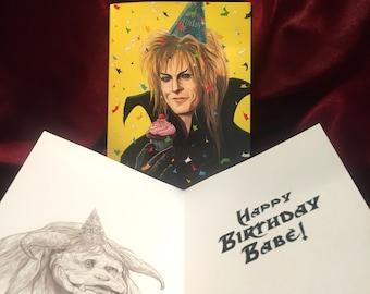 JARETH Labyrinth BIRTHDAY CARD!