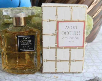 1960s Avon Occur Cologne Splash Pre-Zip Code