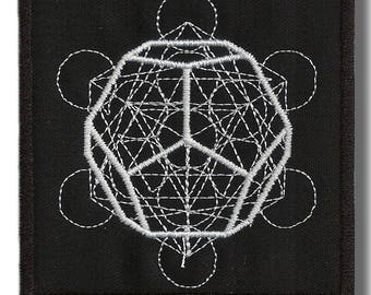 Sacred geometry - embroidered patch 8 x8 cm
