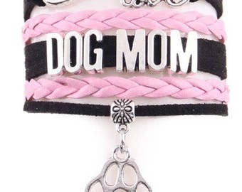 Dog Mom Adjustable Wrap Bracelet