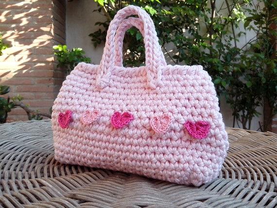 Schema uncinetto mini borsa pattern 24 mini borsetta rosa for Uncinetto digitale