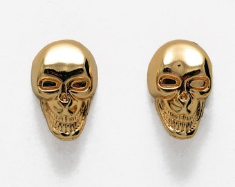 4 pcs Metal Skull Button with Shank back, 11 x 16mm TR-11157