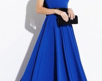 Cobalt Blue maxi dress Dress floor Sleeveless dress Long dress Prom maxi dress Wedding dress Evening dress bridermaid dress blue