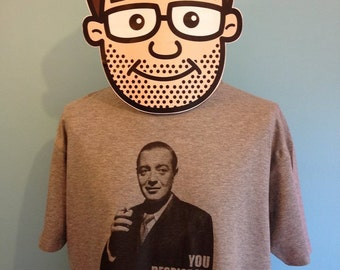 Casablanca / Peter Lorre Cult Film T-Shirt (You Despire Me Don't You?) - Grey Marl Shirt
