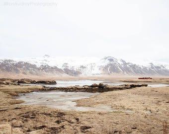 Iceland Landscape, Landscape Photography, Nature, Isolation, Home Decor, Minimalist, Nordic, Mountains, Modern Farmhouse, Large Artwork