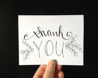 thank you card, thank you, blank card, minimalist card, A6 card