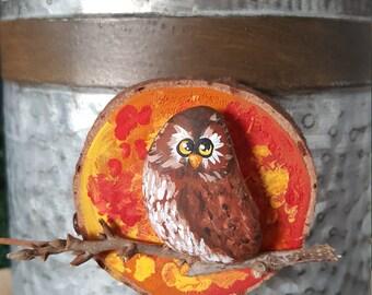 Autumn Owl Magnet - 035
