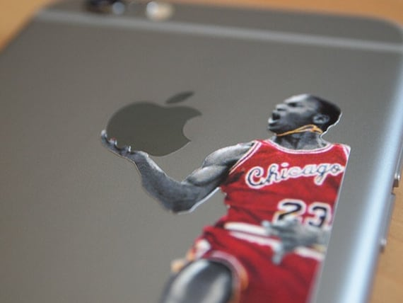 Michael jordan iphone decal sticker fits all sizes
