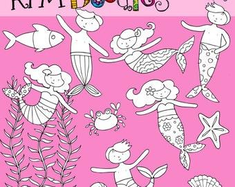 KPM Mermaids and Merboys Stamps