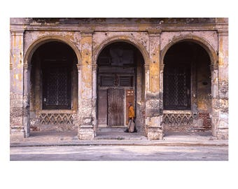 Old Man, Old Havana, Cuba, Signed Art Print / Cuban Street Photography / Havana City Architecture Photo