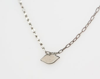 Sterling Lips Necklace