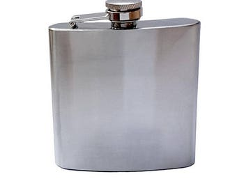 Stainless steel flask with engraving