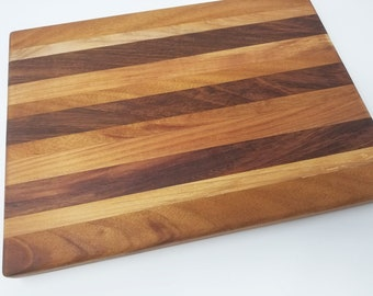 "13x17"" Wood Cutting Board - Maple, Jabota, Cherry, Cheese Board, Charcuterie Board, Rustic, Farmhouse, Handmade, Decorative, Natural, Grain"