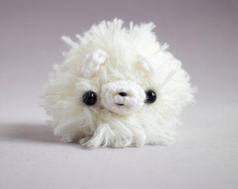 Samoyed dog amigurumi - cute crochet plush toy