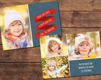 Ribbon Christmas Card Template