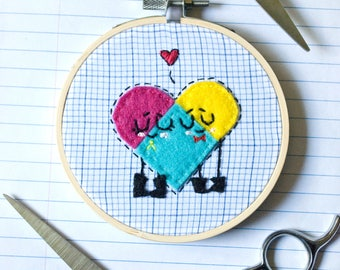 Snipperclips (4 inch hoop)