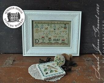 NEW! SUMMER HOUSE STiTCHE WORKeS Sarah Jane Grant 1845 Deconstructed cross stitch patterns OPTiONAL Darner Kit 2018 Nashville Market