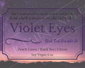 Violet Eyes - Scented Soy Candle Inspired by A Court of Wings and Ruin