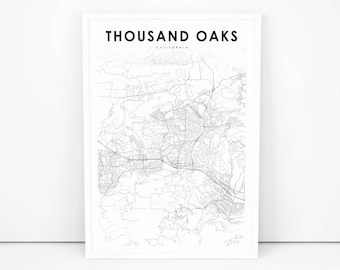 Thousand oaks map Etsy