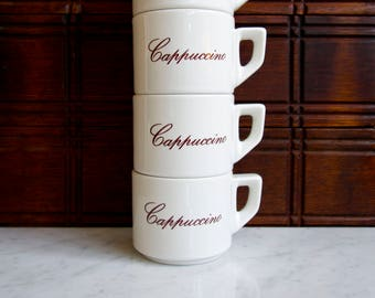 Cappuccino Mug Set of Four Stackable Made in Italy