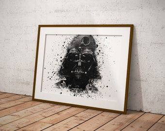 Darth Vader Poster, Star Wars Poster, Star Wars Art, Movie Poster, Fan Art