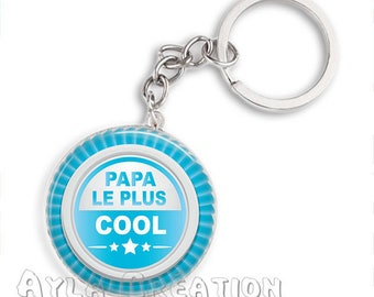 Cabochons glass 25mm #PA_ME022 dad keychain