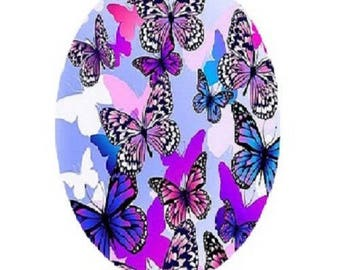 18x25mm purple butterflies