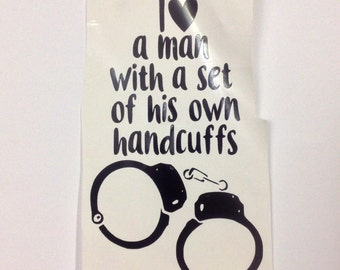 DIY Vinyl Handcuffs Decals Make Your Own Party Decor