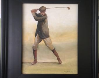Old golfer by krys Kosmowski
