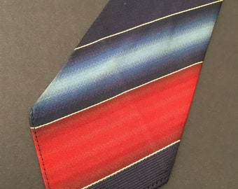 Vintage 1930s Swing necktie:  Business Stripes
