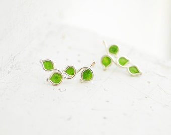 Green Post Earrings, Lime Fruit Studs, Culinary School Graduation Gift