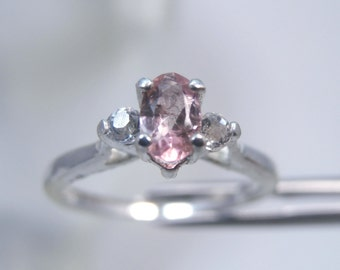 TOURMALINE - Petite Pink October Birthstone or Pinky Sterling Silver Ring Size 4. FREE Re-size! FREE Shipping!