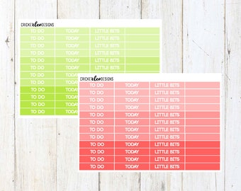 Green / Red Headers ( 48 Matte Planner Stickers )