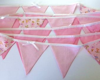 Long bunting. Pink bunting. Ballet bunting. Party decor. Ballet class decor.