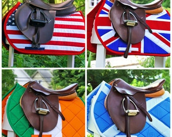 Custom Saddle Pad Flag - US // UK // Canada//Pick Your Country - Made To Order
