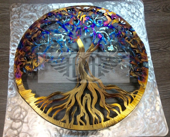 Steel Gifts 11th Wedding Anniversary: 11th Anniversary Gift Stainless Steel Tree Of Life Wall Art