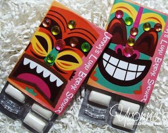 Luau Party Favors/Gum Wrappers-Hawaiian Tiki Party Favors-Candy Favors- Summer Birthday-Pool Party-Vacation-30th-40th-50th-60th Birthday