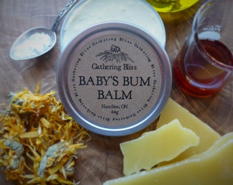 Baby's Bum Balm; especially formulated for new or sensitive skin